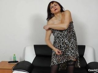 hot mature masturbating with dildo