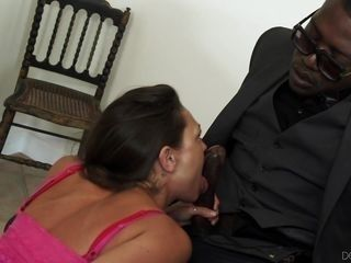 hot white daughter meets her new black stepdaddy @ my new black stepdaddy