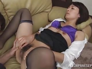 mature japanese sexpot sucks my stiff rod