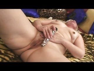 muscled stud helps lustful granny to cum