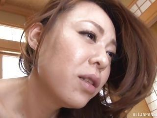japanese housewife sucks erected dick