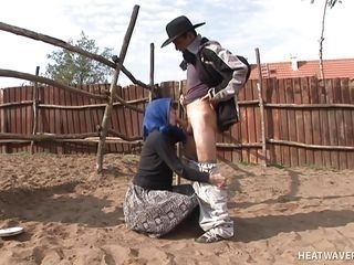 old granny gets fucked in the cow corral @ hey my grandma is a whore 20