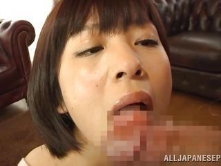cutie licks an old man's cock