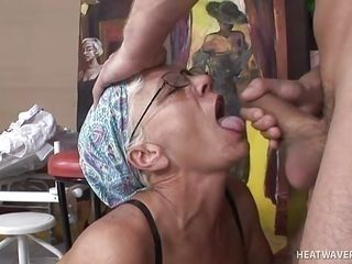 granny sucks cock in the bar @ hey my grandma is a whore 20