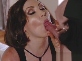 Stepmom Yasmin Scott fucking big cock for facial and cuckold