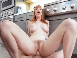 Hot Red Head MILF Fucks Son's Best Friend Who Is Stuck Under Sink