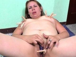 This naughty clothespins game really gets her going